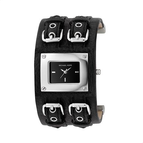 Michael Kors Leather Cuff Watch