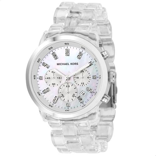 Michael Kors Round Silver Watch