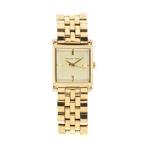 Michael Kors Square Goldtone Watch