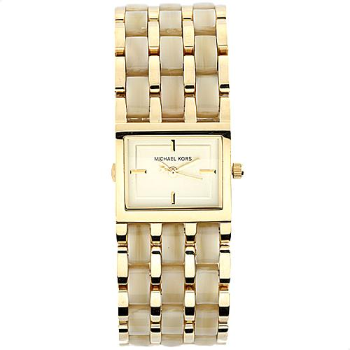 Michael Kors Square Mother of Pearl Watch