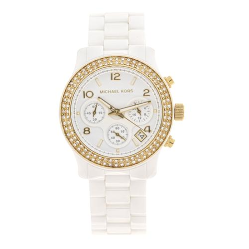 Michael Kors White Ceramic Watch