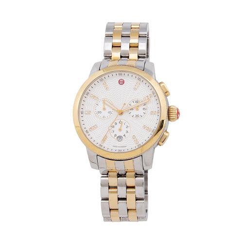 Michele Bi-Color Diamond Uptown Chronograph Watch