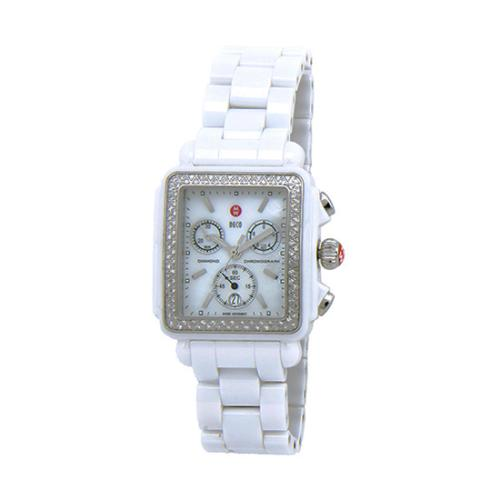 Michele Ceramic Diamond Deco Watch