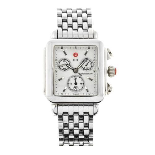 Michele Deco Stainless Steel Watch