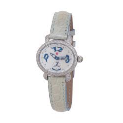 Michele Diamond CSX Alligator Mini Watch