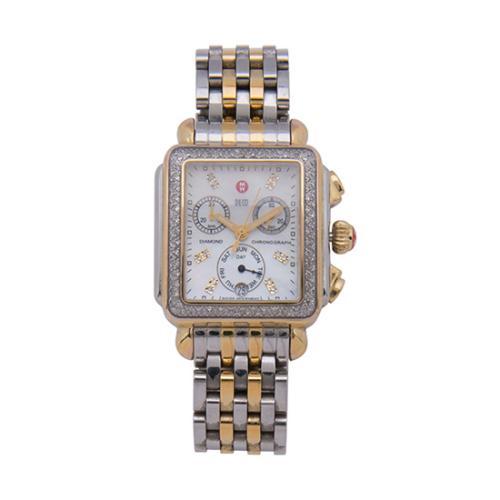 Michele Diamond Deco Watch w/ Four Straps