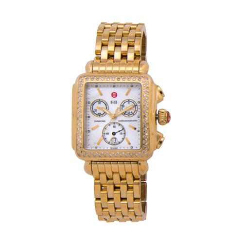 Michele Diamond Deco Watch