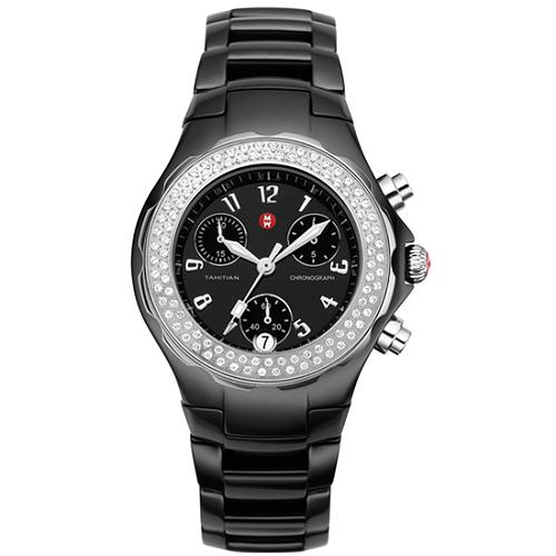 Michele Tahitian Black Ceramic Watch