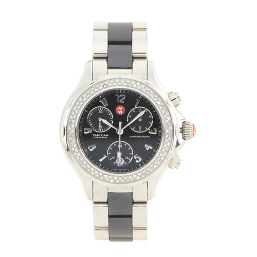 Michele Tahitian Ceramic Steel Watch