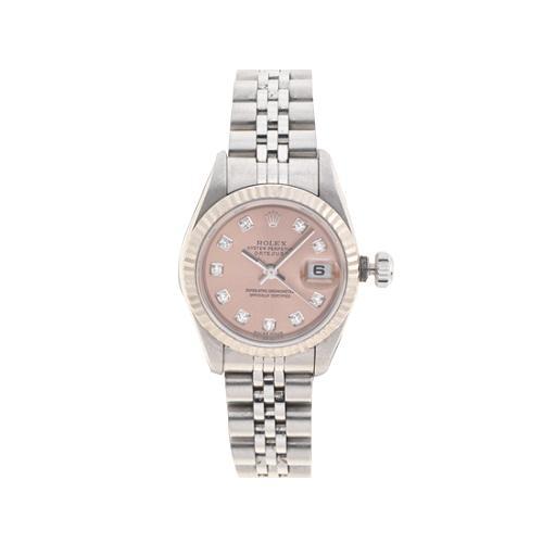 Rolex Perpetual Fluted Bezel Diamond Marker Datejust Watch