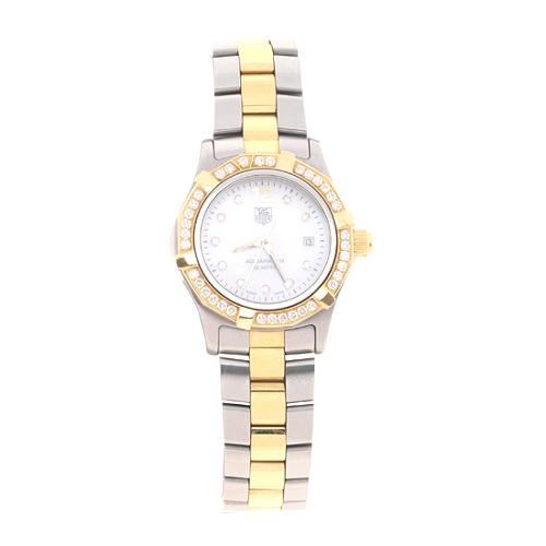 TAG Heuer Womens Aquaracer Quartz Diamond Bezel Watch