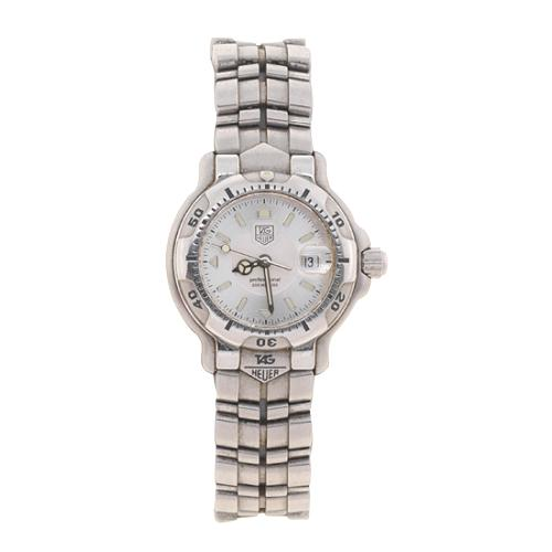 Tag Heuer 6000 Womens Stainless Steel White Dial Watch