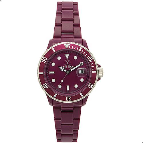ToyWatch Plasteramic Burgundy Watch